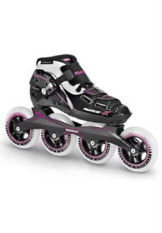 Powerslide X Pure - Inline Skate - Dames - Zwart/Roze