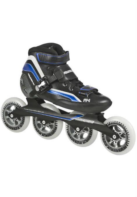 Powerslide R4 - Inline Skate - Zwart/Blauw