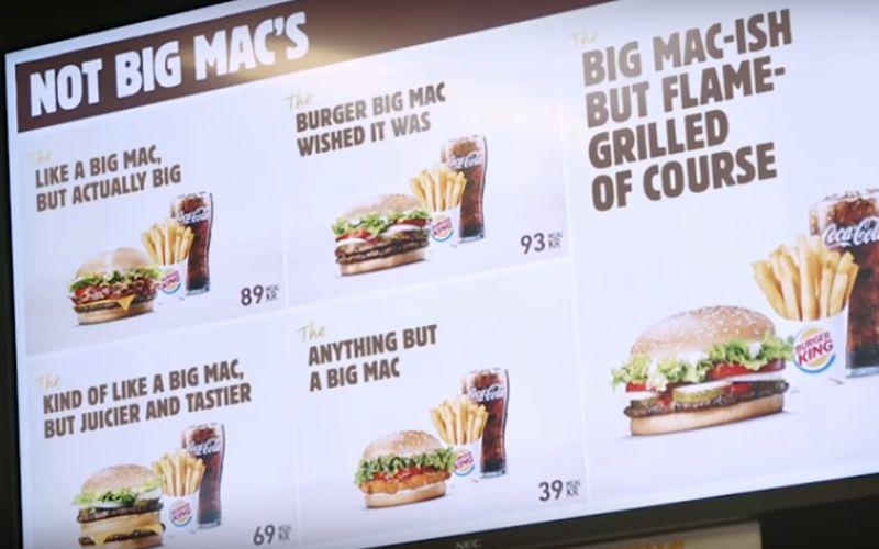 Burger King Bic Mac Reclame