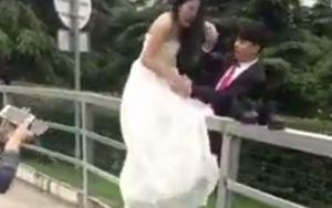 Fail op de dag van de bruiloft