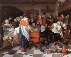 de-kraamvisite-jan-steen-1664