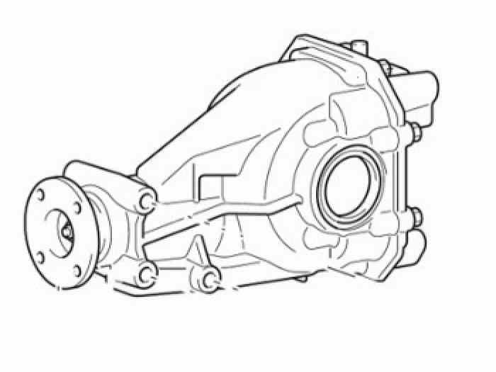 Pont arrière Lancer Evo RS 4 5 6 7 8 9...