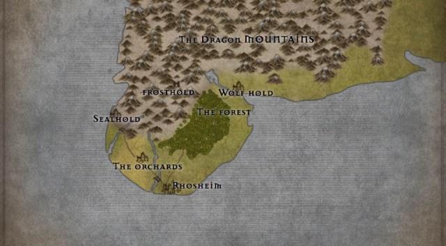 Map of Rhoswyr