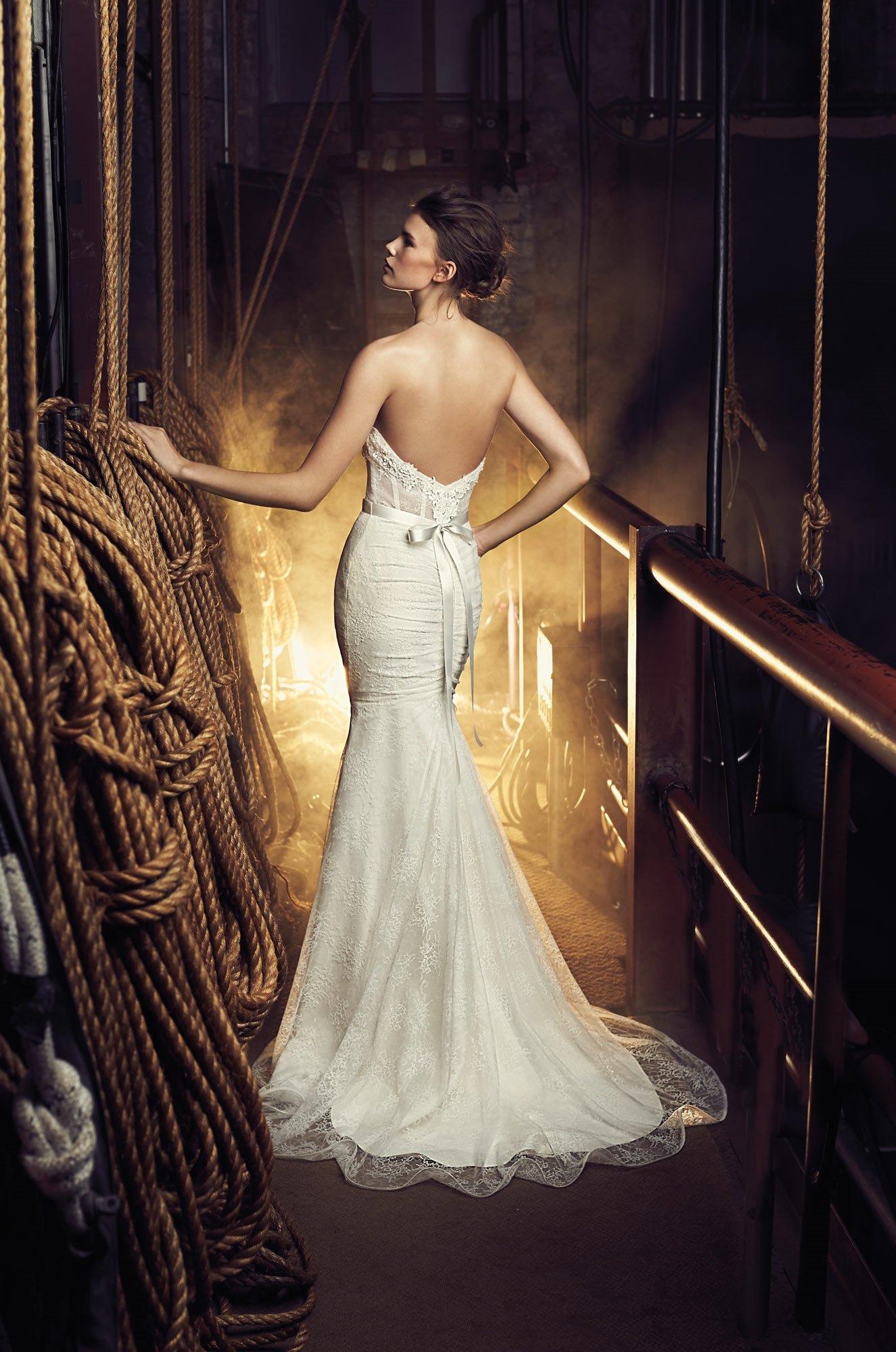 Sheer Bodice Wedding Dress  Style 2080  Mikaella Bridal