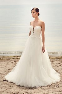 Plunging Sweetheart Lace Wedding Dress - Style #2110 ...