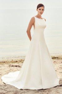 Sleek Modern Wedding Dress - Style #2115 | Mikaella Bridal