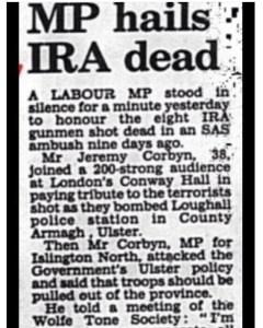 Jeremy Corbyns Mourns IRA Terrorist