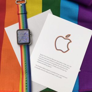 Unique Pride band provided to employees in 2016