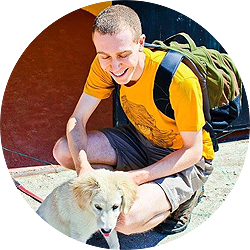Mike Emery Tinder Profile Photo With Dog