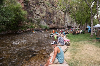 The St. Vrain cool down at 2015 Rocky Mtn Folks Festival