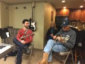 Mike Bono and Al Shackman rehearsing for the Nina Simone Tribute concert at the Sundance film festival. Al was Nina's guitar player.
