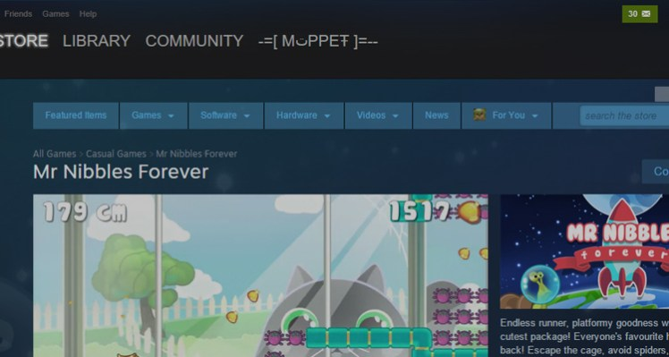 Mr Nibbles Forever – Launched on Steam