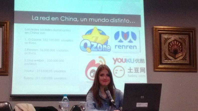 Cristina Vera y las redes sociales más populares en China