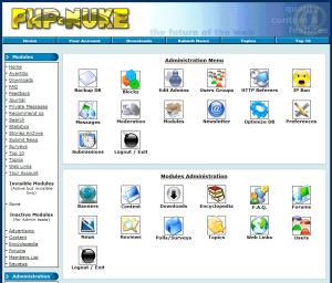 Ejemplo gestión CMS php-nuke