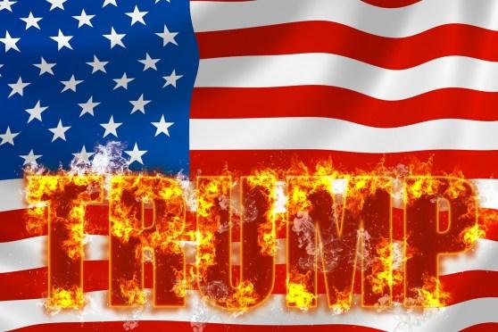 donald trump flames