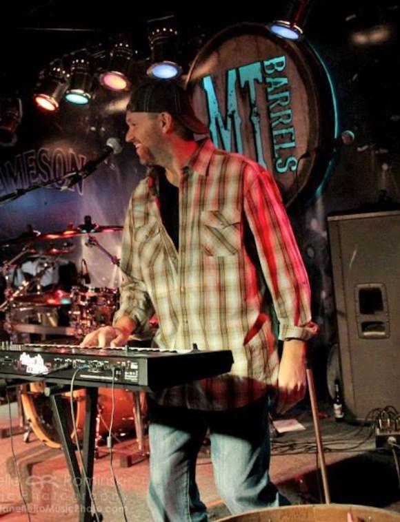 Mike Echlin on stage at MT Barrels