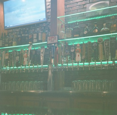 I shot this image with the camera on a bar, using an approximate 3 second shutter speed.