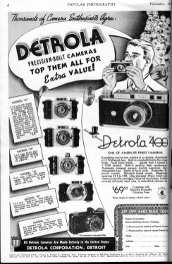 This ad is from a 1940 issue of Popular Photography.