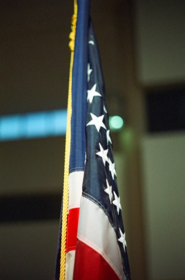 Another great shot of the flag in difficult interior lighting.