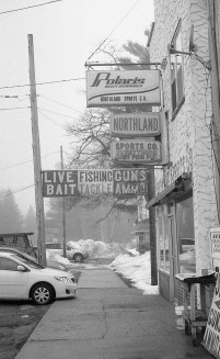 Were it not for the modern cars in this shot of downtown Indian River, MI, it could have passed for an image taken decades ago.