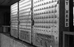 I like the look of the metal lock boxes on black and white film.