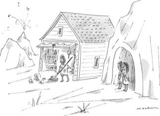 To the folks at the New Yorker Cartoon Caption Contest