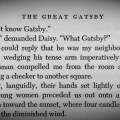 The great gatsby quot page 16 daisy s question answered by the book