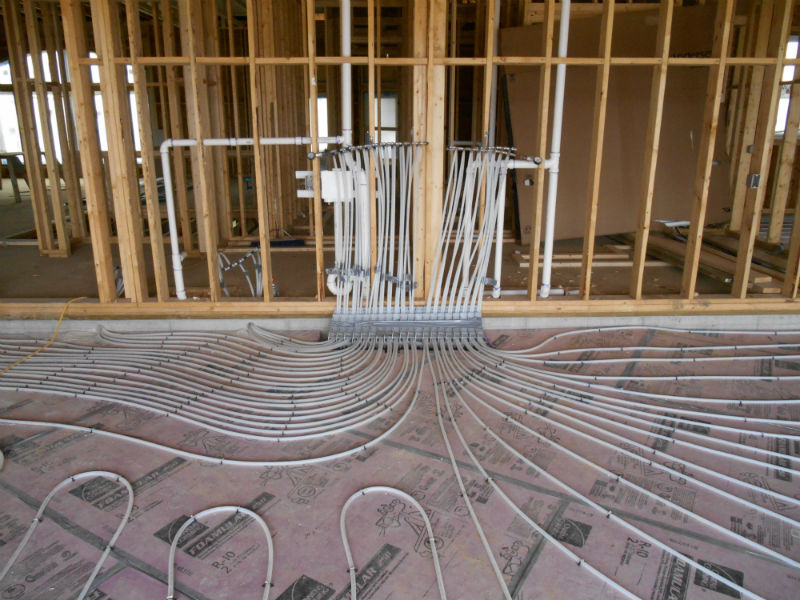 In floor Heat Installation 4