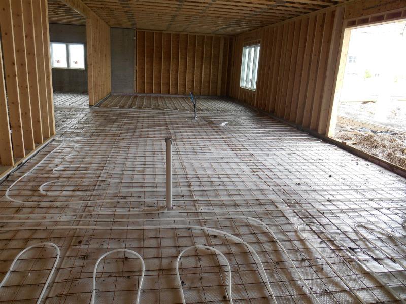 In floor Heat Installation 1