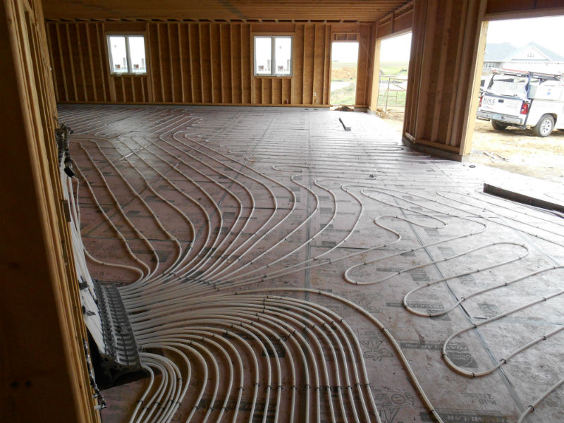 In floor Heat Installation 3