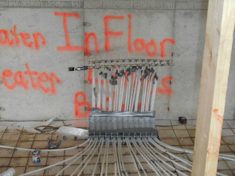 In floor Heat Installation 2