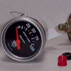 Nitrous Water Temp Gauge Wiring Diagram 2006 Vw Passat Turbo Engine How To Install An Oil Pressure Temperature Autometer 3337 2 1 16 Electric With 8 Npt Sending Unit And 3 Adapters 39 95 Summit Racing