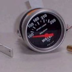 Nitrous Water Temp Gauge Wiring Diagram Vw Electronic Ignition How To Install An Oil Pressure Temperature Autometer 3337 2 1 16 Electric With 8 Npt Sending Unit And 3 Adapters 39 95 Summit Racing