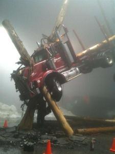 logged-truck