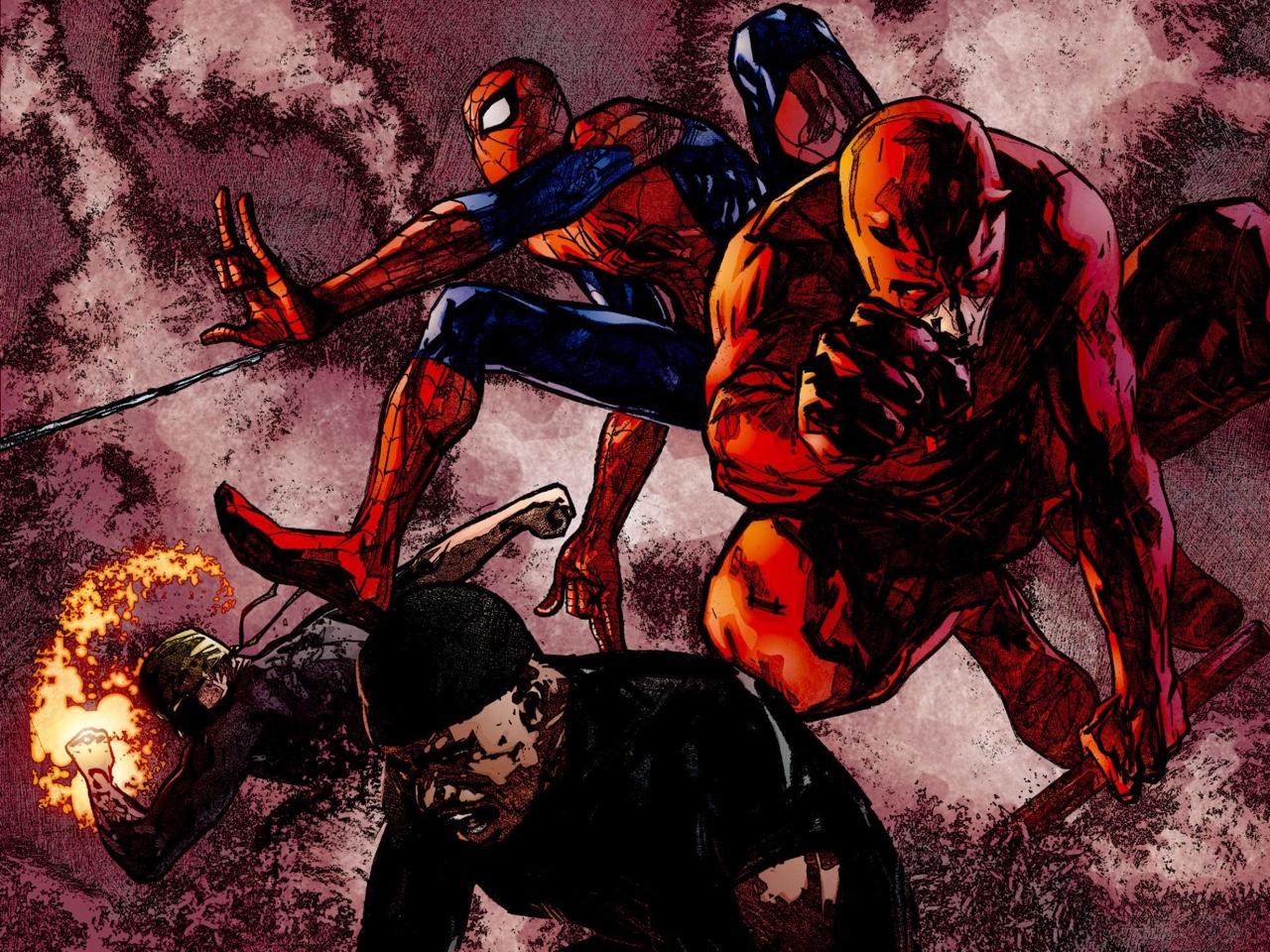 Daredevil, Spider-Man, Luke Cage, Iron Fist by David Mack