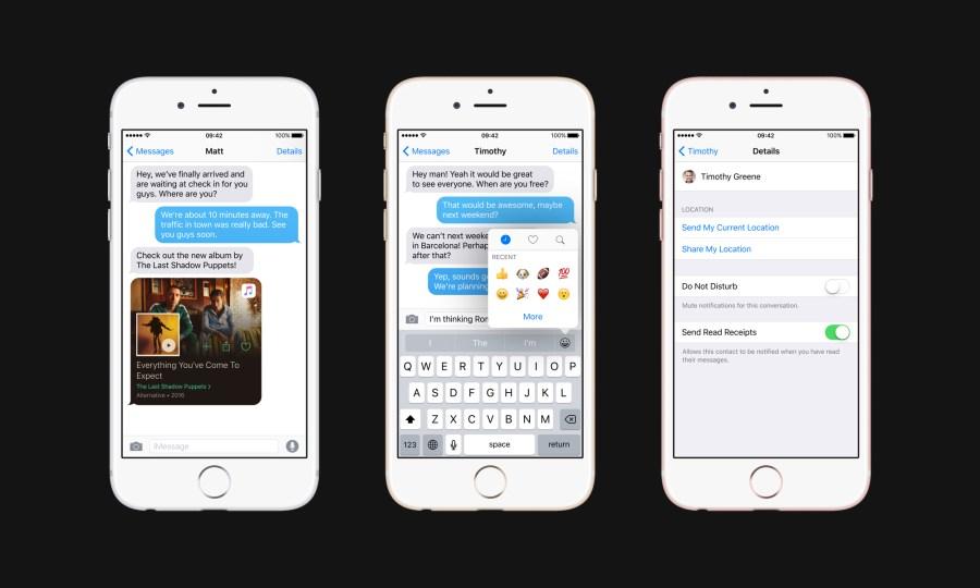 Messages improvements