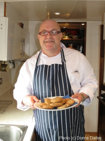 Stephen Boswell chef with the Majestic Line Scottish cruise ships