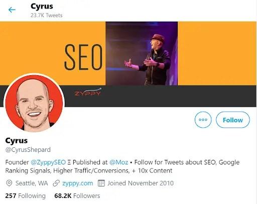 Cyrus Shepard Twitter