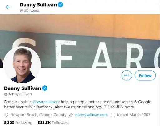 Danny Sullivan SEO Leader