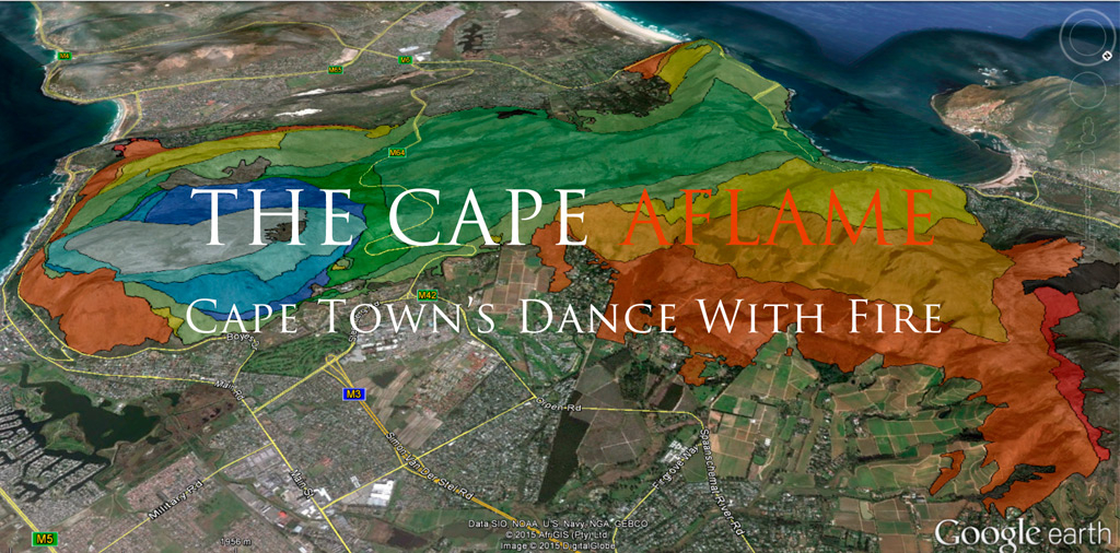 The Cape Aflame, muizenberg fire, 2015, fire, wildfire, fire-progression, fire-progression map