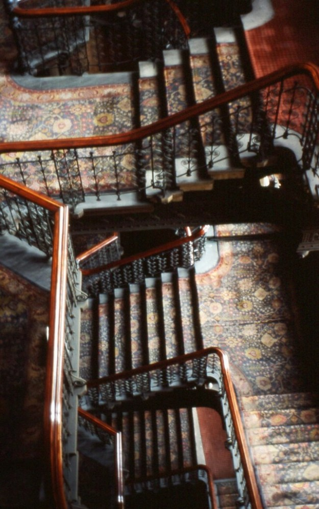 Midland Grand Hotel, St Pancras: grand staircase (1977)