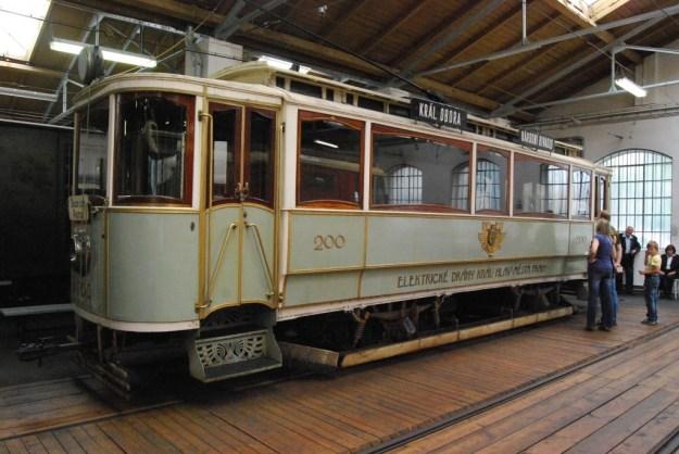 Tramway Museum, Prague, Czech Republic:  Mayor's Tram no 200