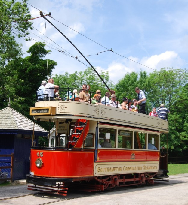 National Tramway Museum, Crich, Derbyshire:  Southampton 45