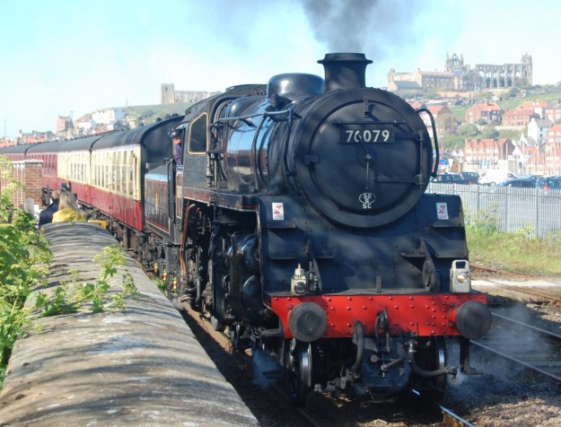 North Yorkshire Moors Railway, outside Whitby station:  BR locomotive 76079