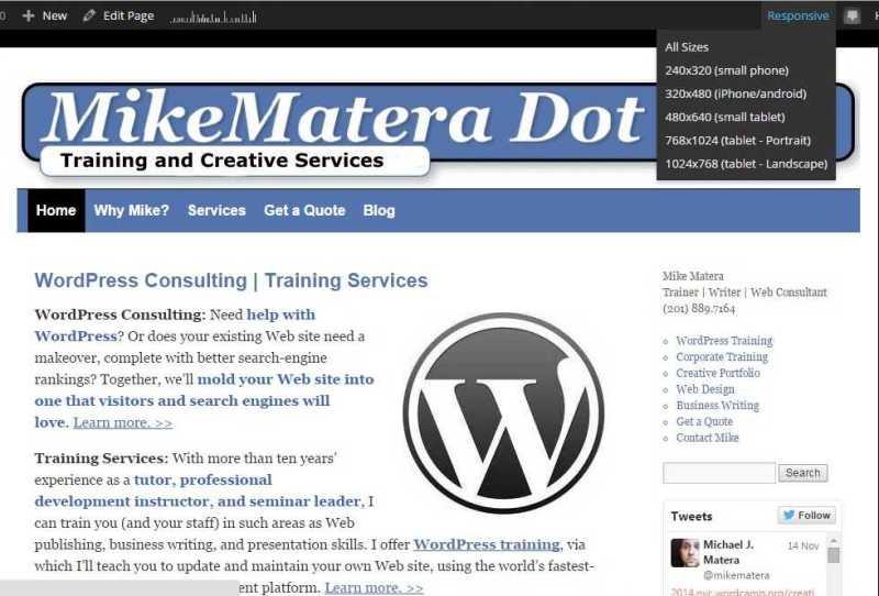 WordPress Responsive Page Tester Plugin