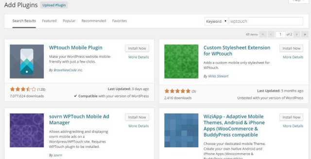 WPtouch WordPress Mobile Plugin