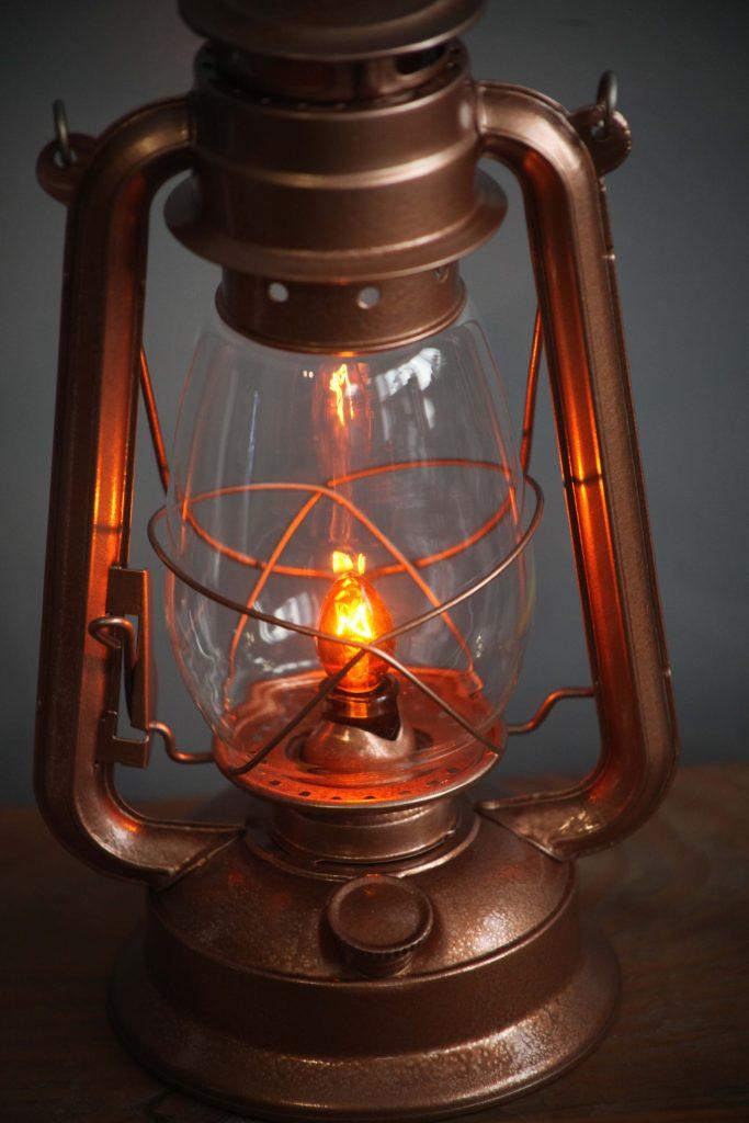 Electric Lantern Table Lamp COPPER LANTERN Electric