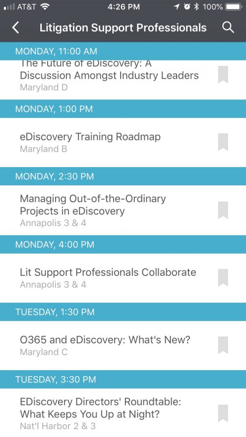 Off the Learning Pathway at #ILTACON2018 – Sessions I'm Looking Forward To Outside the Lit Support Path