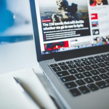 Laptop with News Site