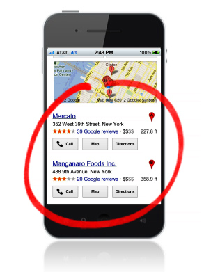 Local mobile search